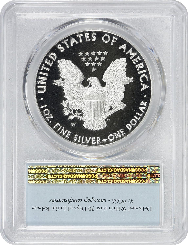 2016-W Proof $1 American Silver Eagle PCGS PR69DCAM First Strike Blue Flag Label