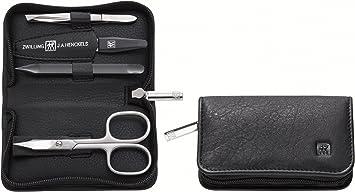 Zwilling Classic - Estuche de manicura de 4 piezas, color negro: Amazon.es: Salud y cuidado personal