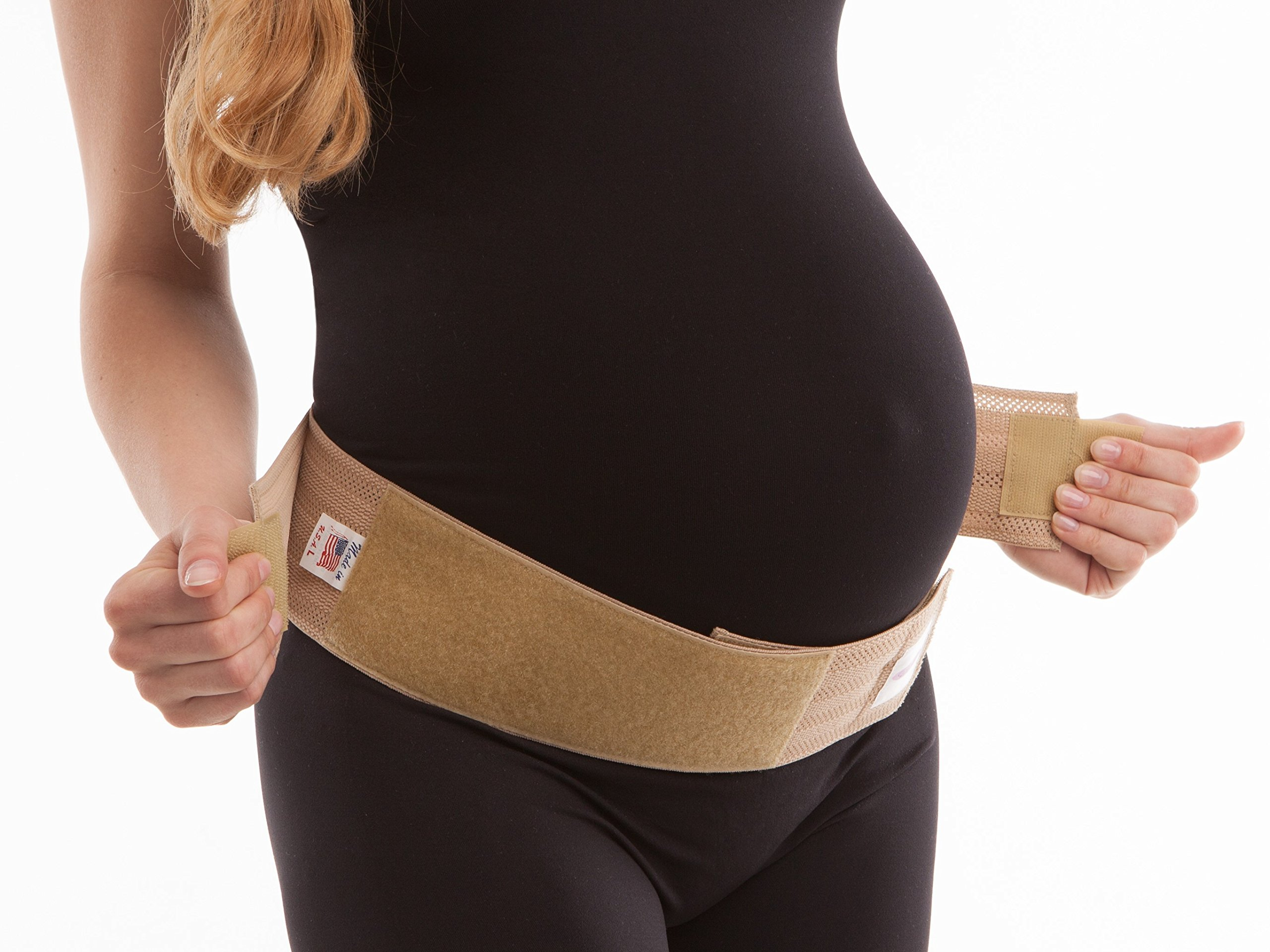 Gabrialla Maternity Light Support Belly Band, Beige, Medium