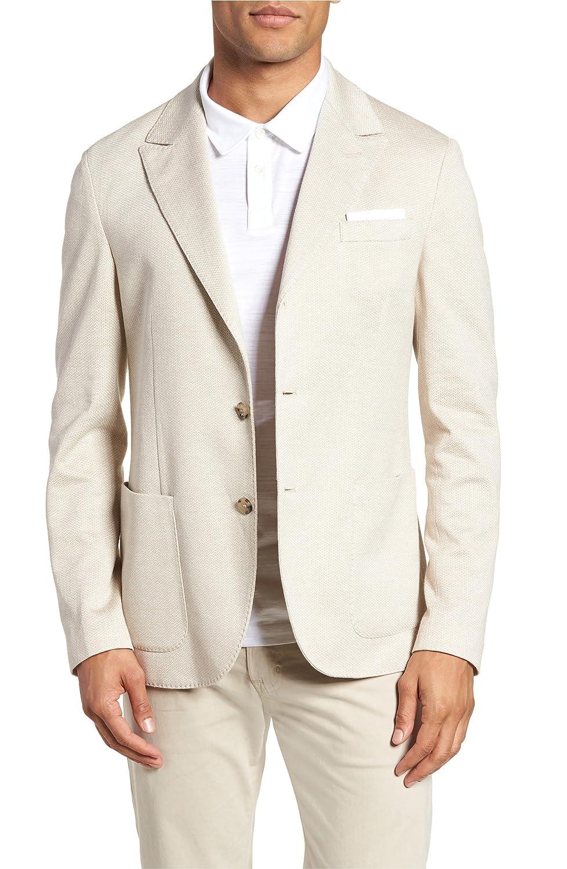 [イレブンティ] メンズ ジャケットブルゾン Eleventy Jersey Trim Fit Linen & Cotton [並行輸入品] B07DVYW2YX 50_R_EU