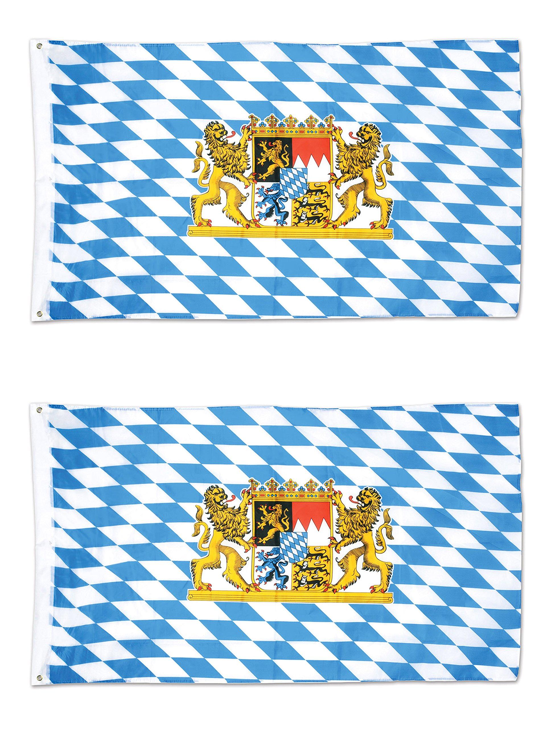 Beistle 53332, 2 Piece Bavarian Flags, 3' x 5' by Beistle
