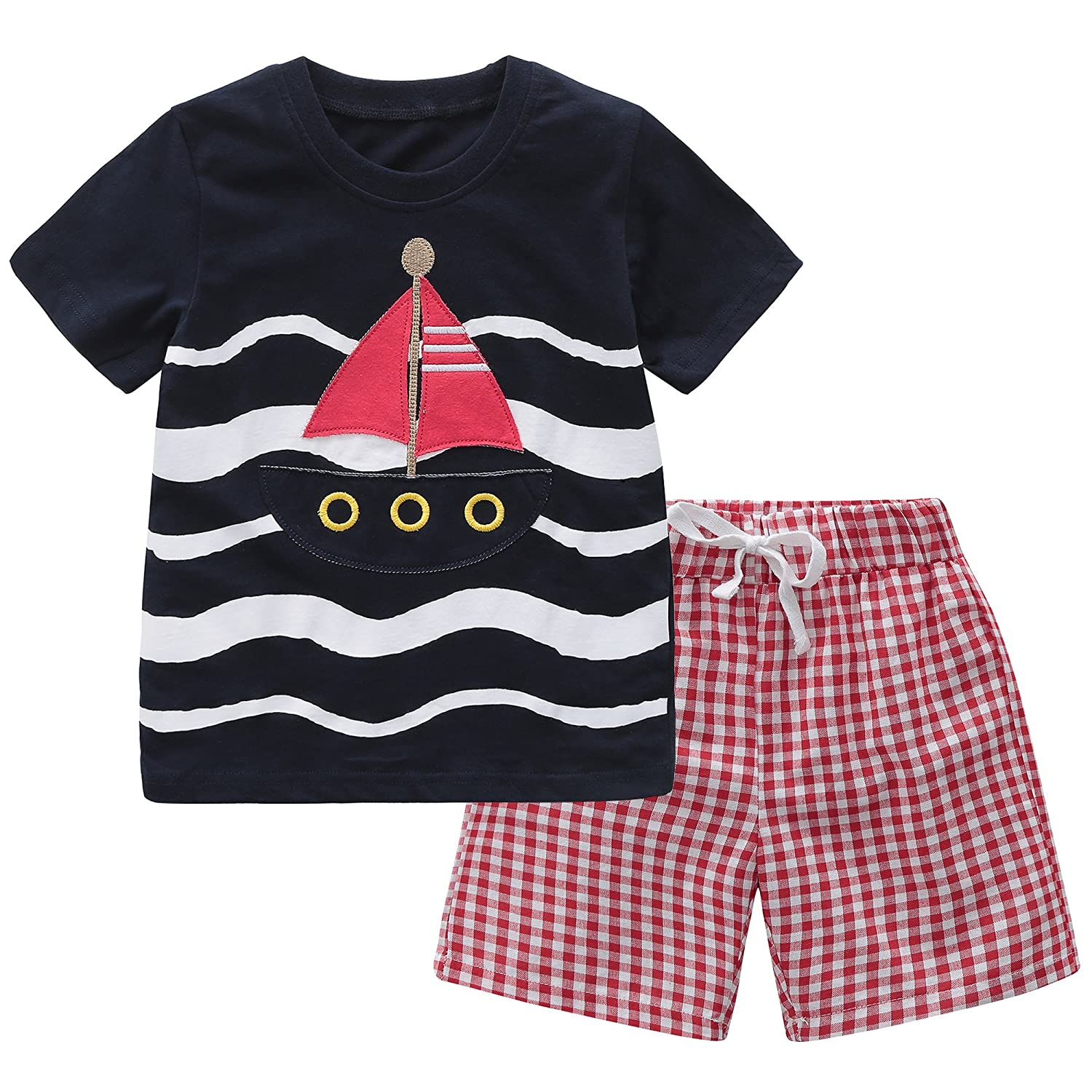 Fiream Baby Boy's Cotton Outfits 2 Pieces Clothing Set TZset087
