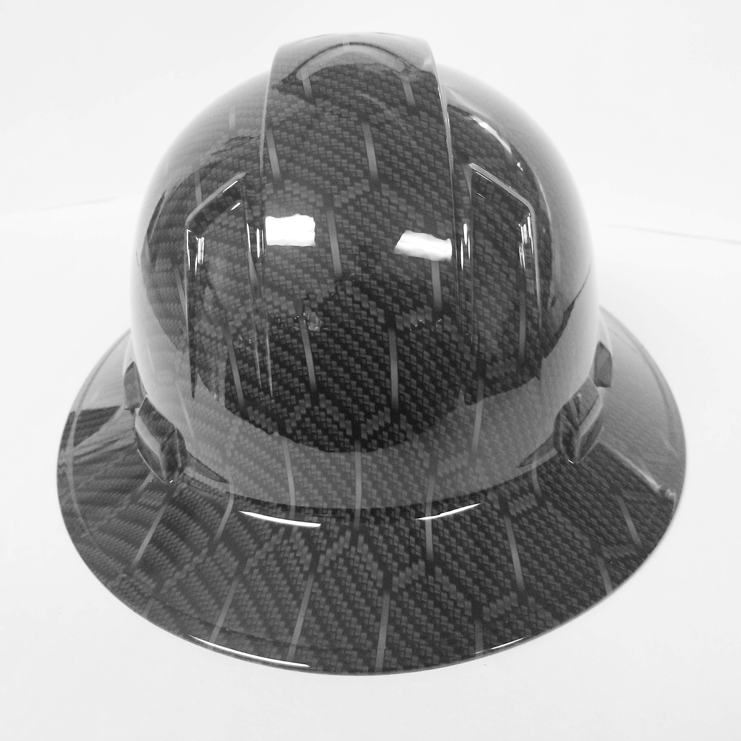 Wet Works Imaging Customized Pyramex Full Brim HEX Weave Carbon Fiber 3D Limited Hard HAT with Ratcheting Suspension Custom LIDS Crazy Sick Construction PPE by Wet Works Imaging (Image #5)