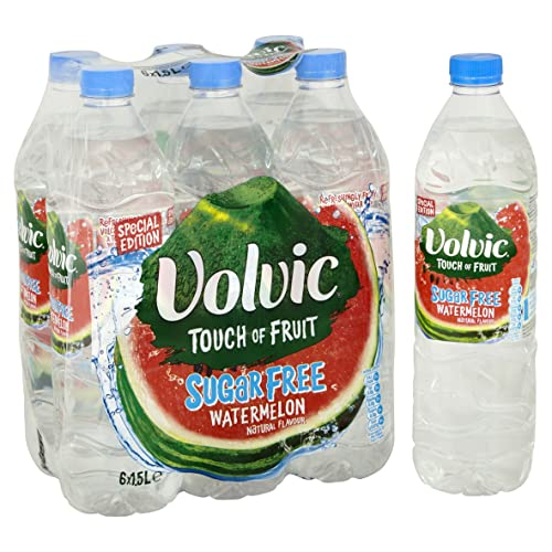 Volvic Touch of Fruit Sugar Free Watermelon Flavoured Water, 6 x 1.5 L