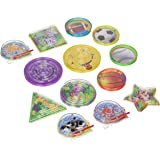 """Amscan Fun-Filled Mini Maze Puzzles with Assorted Backgrounds Party Mega Value Pack Favors (40 Piece), Multicolor, 2 1/2"""" to 1 3/4"""""""