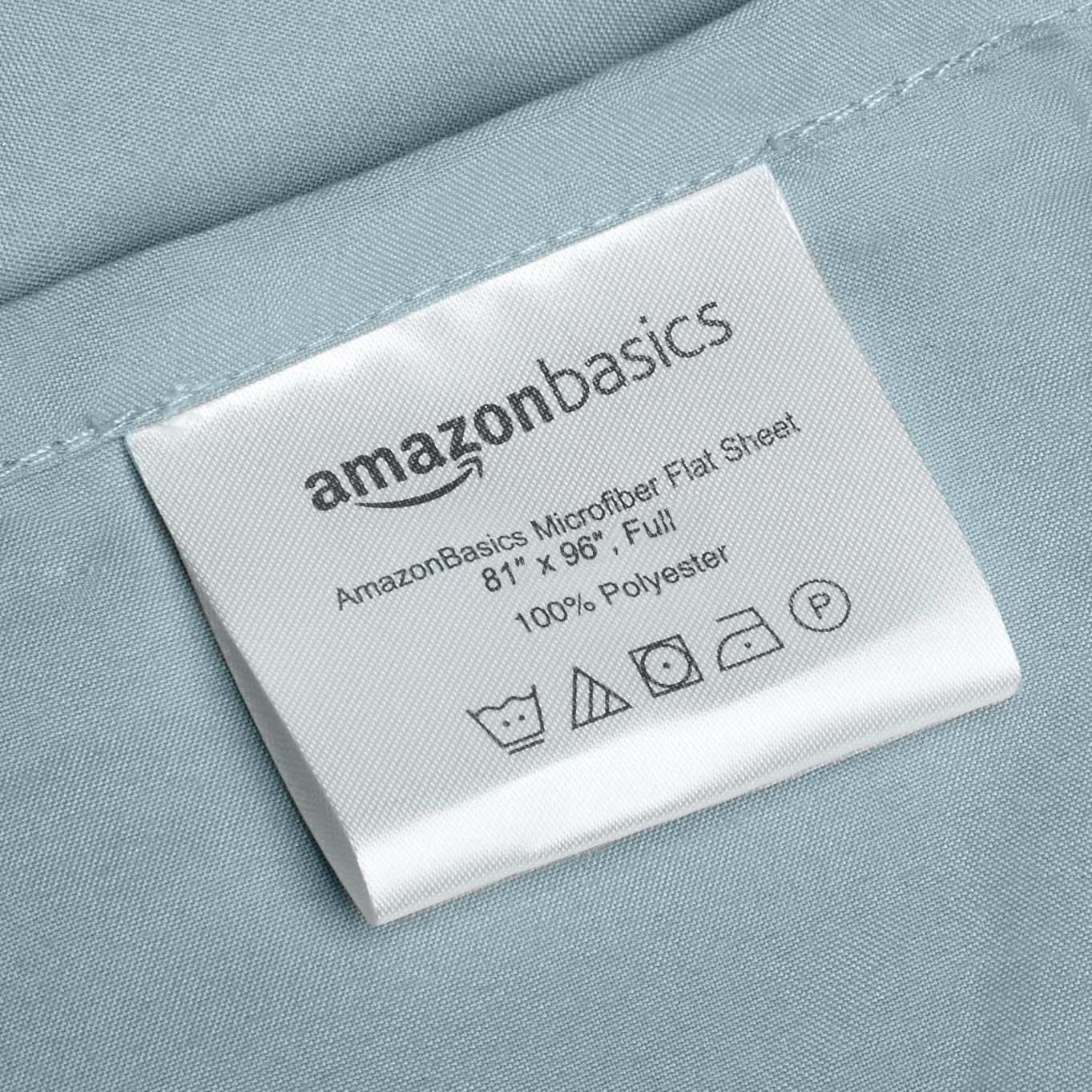 AmazonBasics Microfiber Sheet Set - Full, Spa Blue by AmazonBasics (Image #4)
