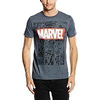 Marvel Mono Comic T-Shirt, Camiseta para Hombre