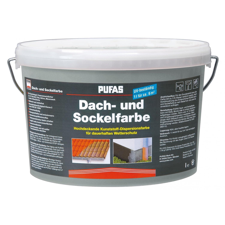 Dach- und Sockelfarbe 2,5 L, 955 Steingrau Pufas Werk KG