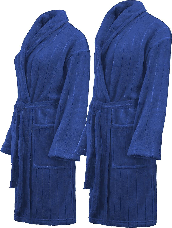 Femmes Hommes micro fibre-velour capuche Peignoir Sauna Manteau Peignoir uni