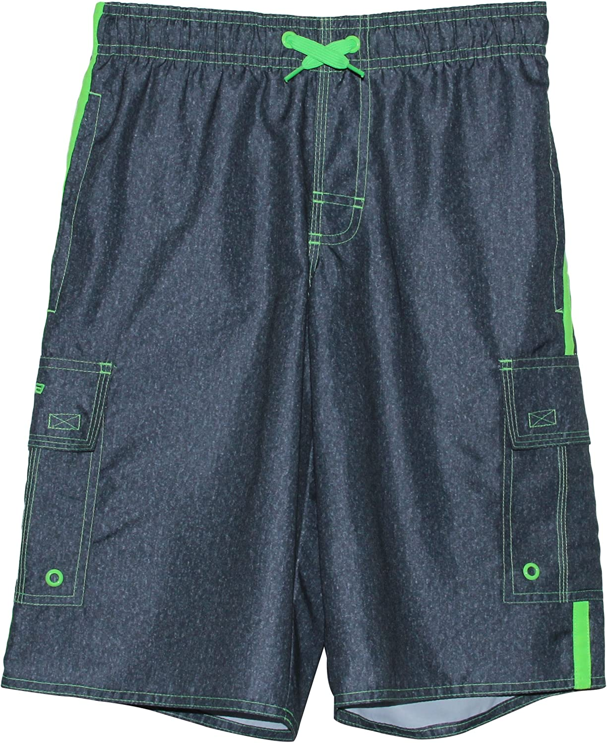 LAGUNA Boys Locked in Drawstring Boardshorts Swim Trunks UPF 50+