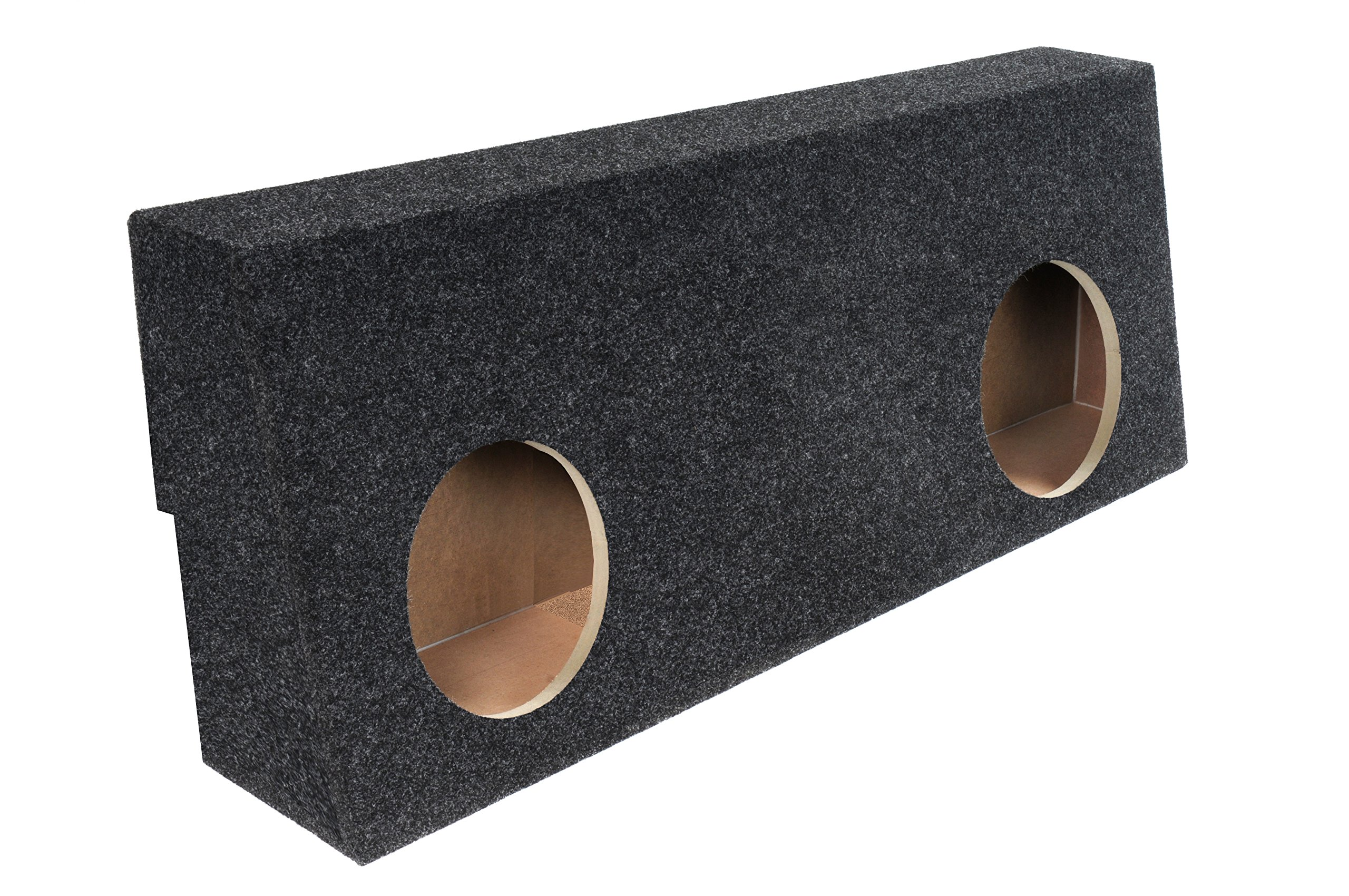 Bbox A604-12CP Dual 12'' Sealed Carpeted Subwoofer Enclosure - Fits 2007 - 2013 Toyota Tundra Crew Max