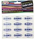 The Kosher Cook KCKH2001D Kosher Dairy Stickers, 1-Piece