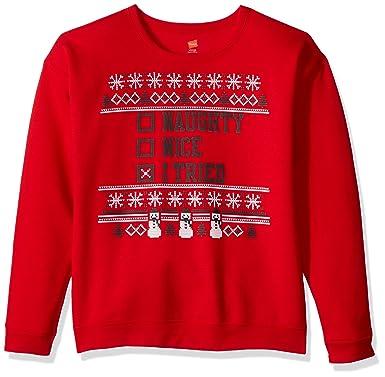 hanes little boys ugly christmas sweatshirt best redi tried small - Ugly Christmas Sweatshirts