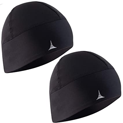 58c36a8dd24 Amazon.com  French Fitness Revolution Skull Cap Helmet Liner Running Beanie  - Ultimate Thermal Retention and Performance Moisture Wicking.