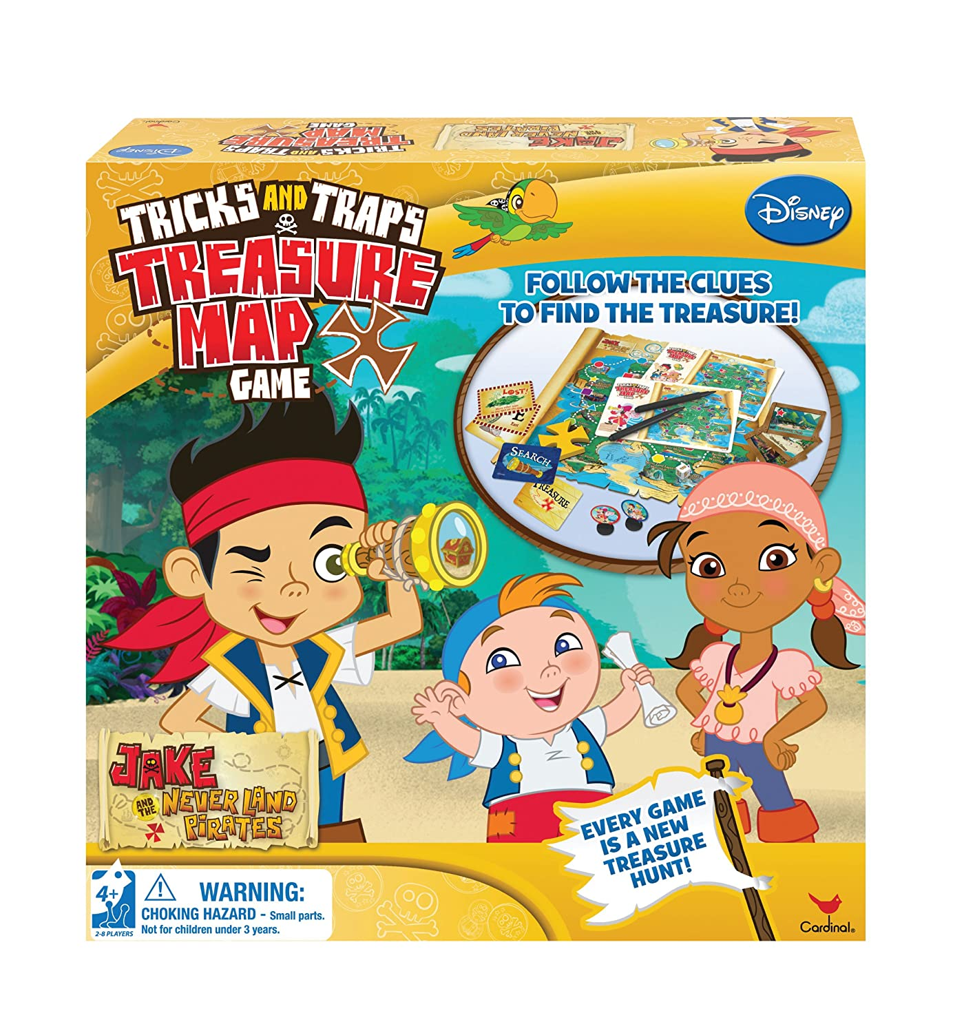 Amazon Jake Trick And Trap Treasure Map Game Toys Games