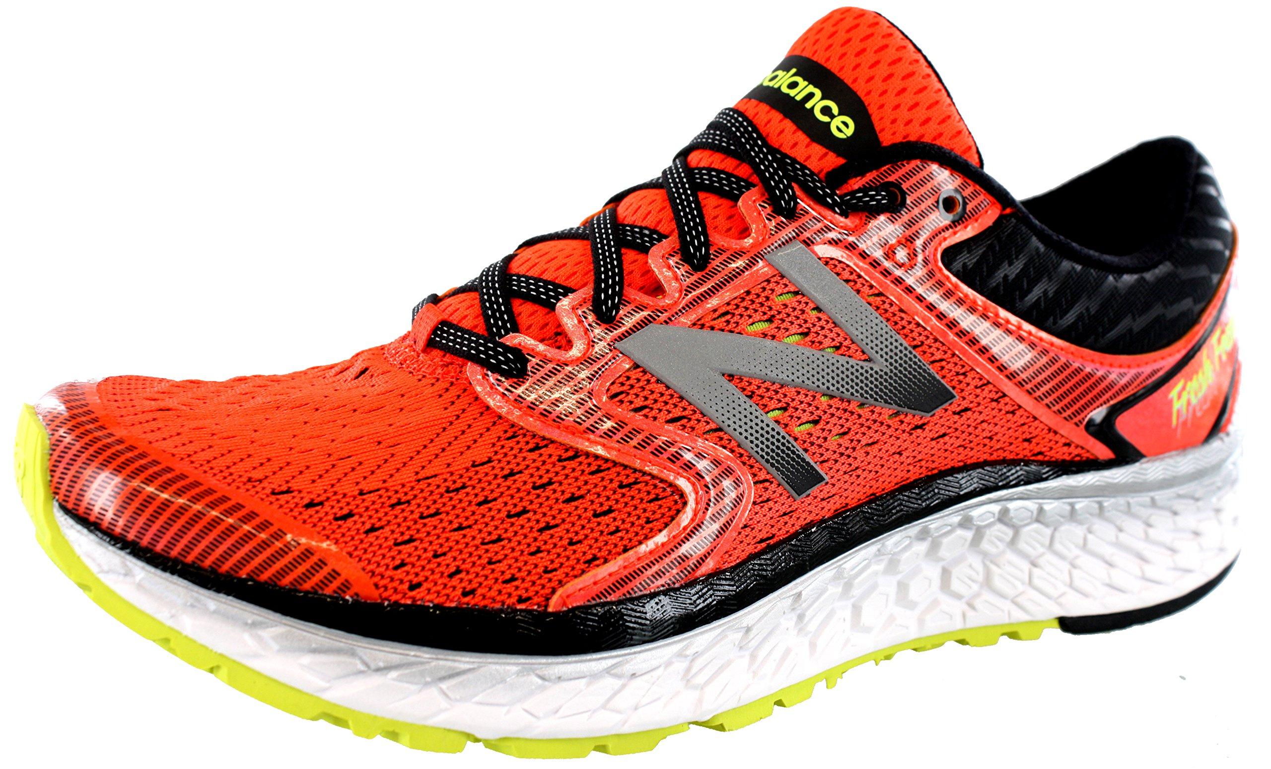 New Balance Men's M1080v7 Running Shoe, Alpha Orange/Hi Lite, 10 D US