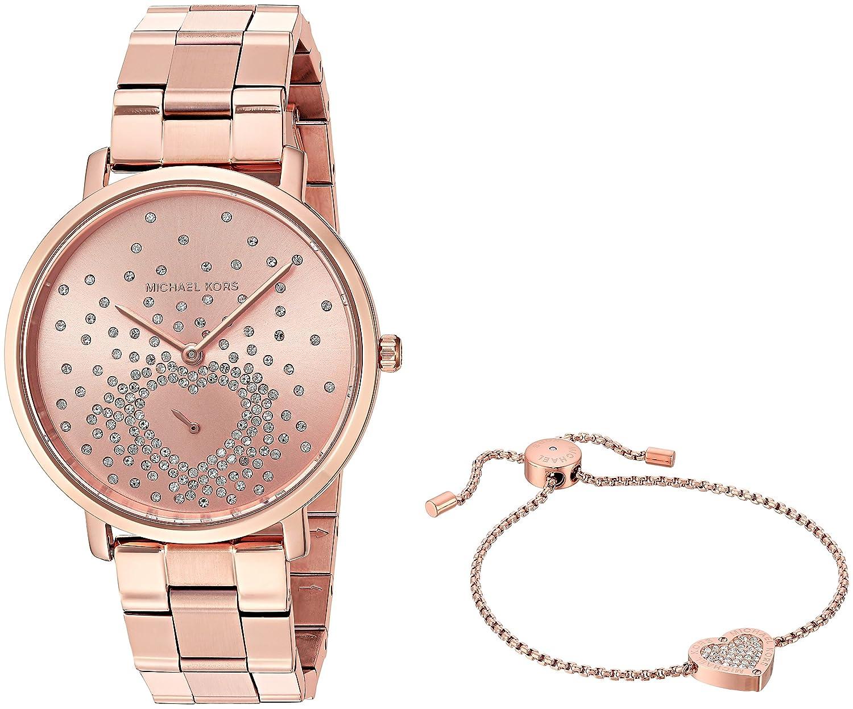 997163ff737b Amazon.com: Michael Kors Women's Jaryn Rose Gold-Tone Watch MK3621: Watches