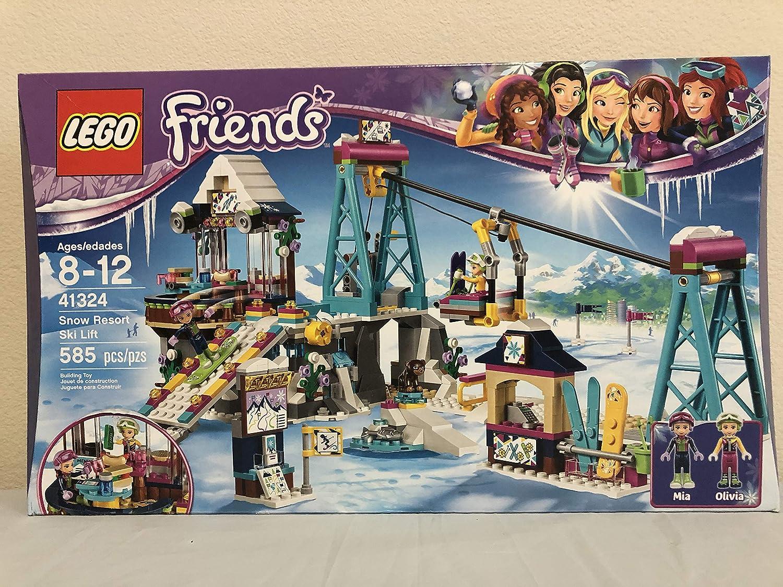 Lego Friends Snow Resort Ski Lift Bundled with Lego Friends Snow Resort Ice Rink