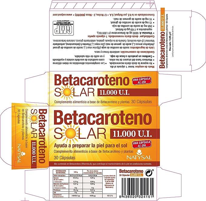 Natysal Complemento Alimenticio a Base de Vitaminas - 30 Capsulas: Amazon.es: Salud y cuidado personal
