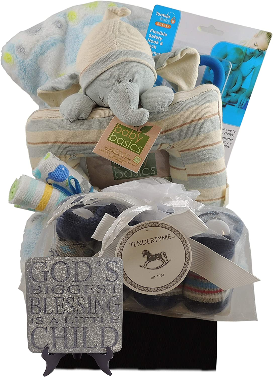 Baby Boy Gift Basket Embossed Fleece Blanket Eco-Friendly Soft Photo Frame and more