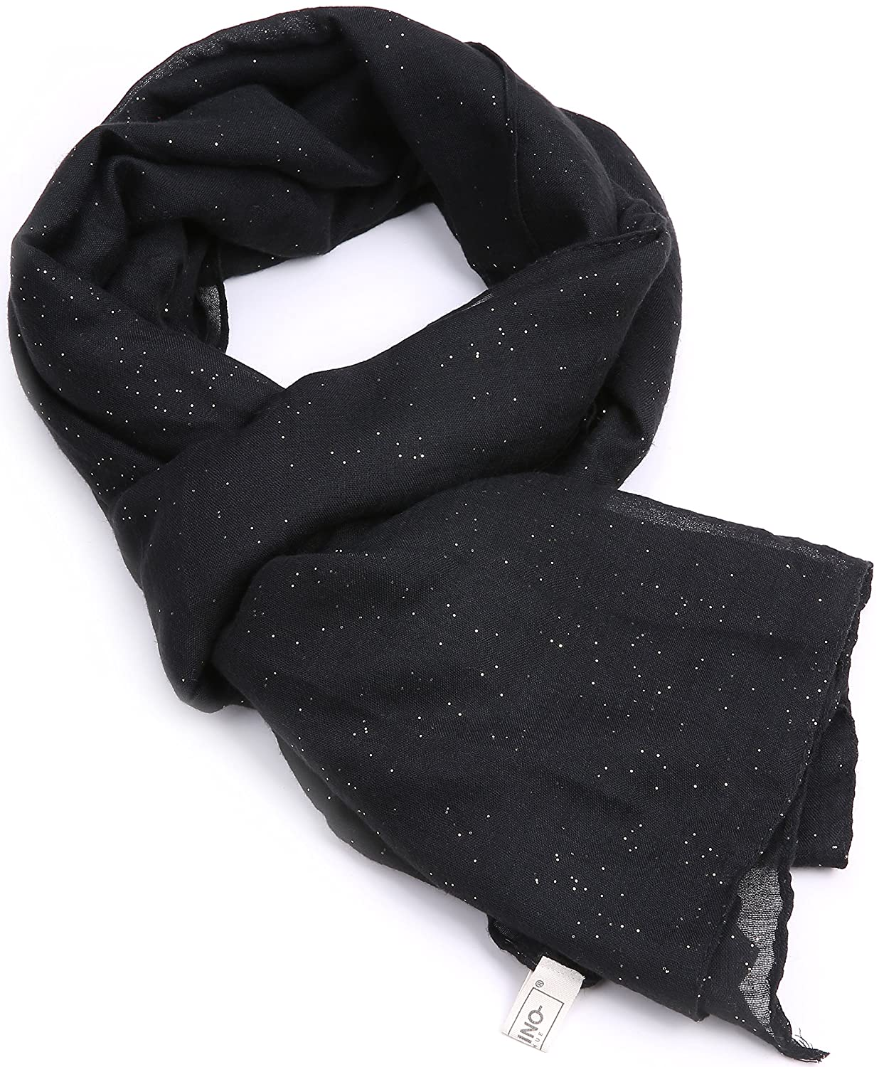 fcf3a29cd Spring Scarfs For Women - Long Lightweight, Sparkle Summer Scarfs For Women  - In A Gift Bag - Black at Amazon Women's Clothing store: