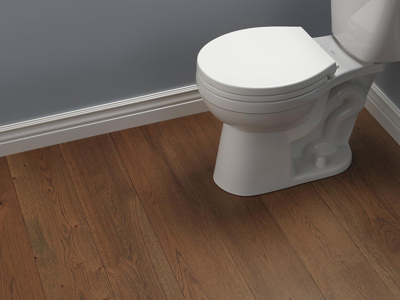 Delta Faucet 801903-WH Morgan Round Front Slow-Close Toilet Seat ...