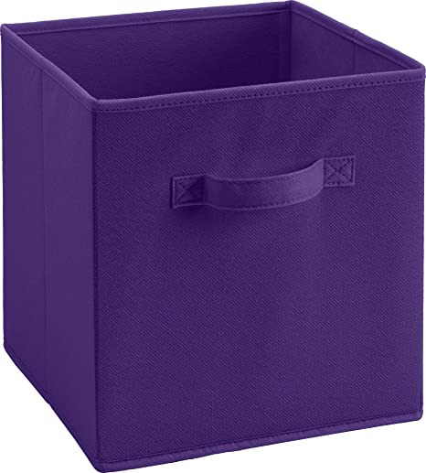 SystemBuild Fabric Storage Bin Purple & Amazon.com: SystemBuild Fabric Storage Bin Purple: Kitchen u0026 Dining