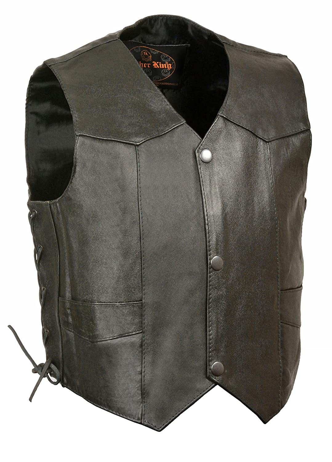 Kids Basic Leather Side Lace Four Snap Vest Milwaukee Leathers SH2011L