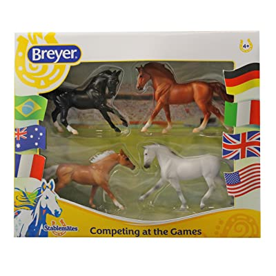 Breyer Stablemates Competing at the Games Four Horse Set: Toys & Games