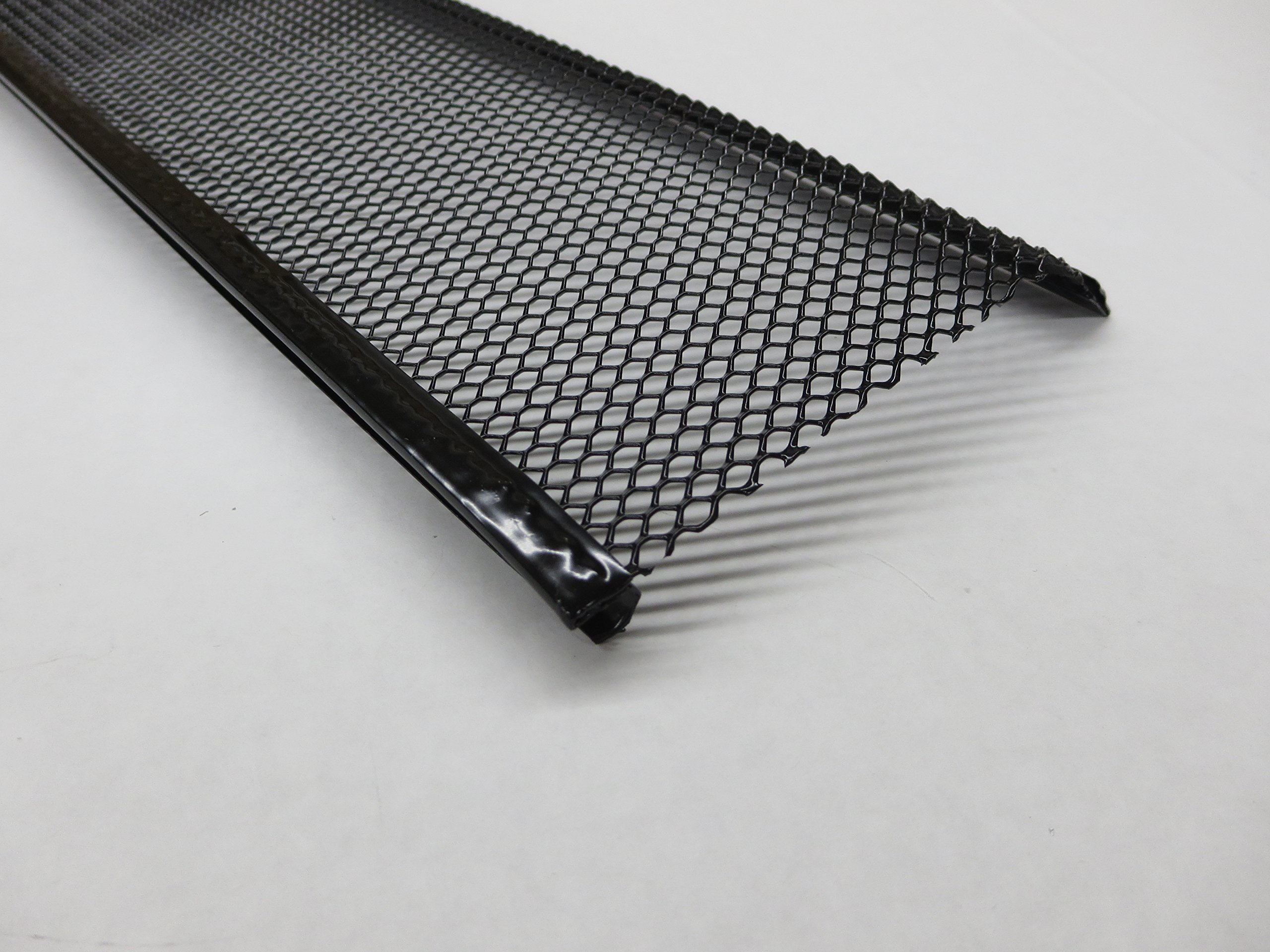 Aluminum Speed Screen Leaf Guard for Gutters (6 INCH, BLACK-CASE(5))