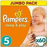 Pampers Sleep und Play Gr. 5, 11-23 kg, Jumbo Pack 60 Windeln, Einfach trocken, 1er Pack (1 x 60 Stück)