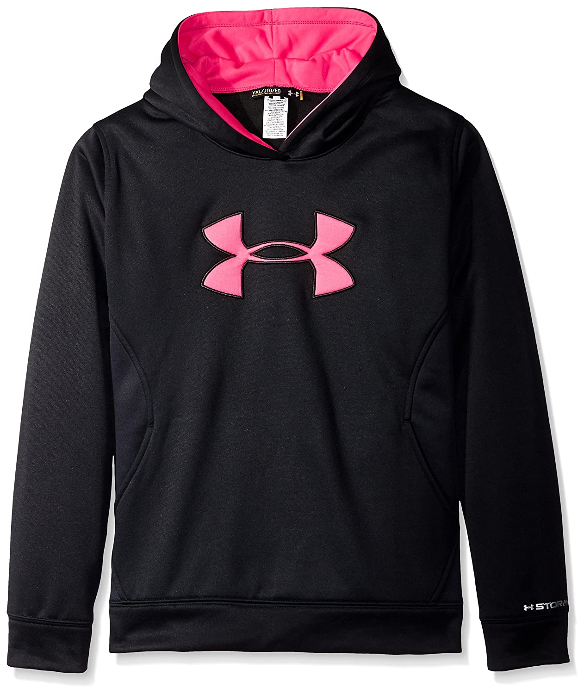 Under Armour Girls Armour Fleece Big Logo Hoodie 1259839-MaParent