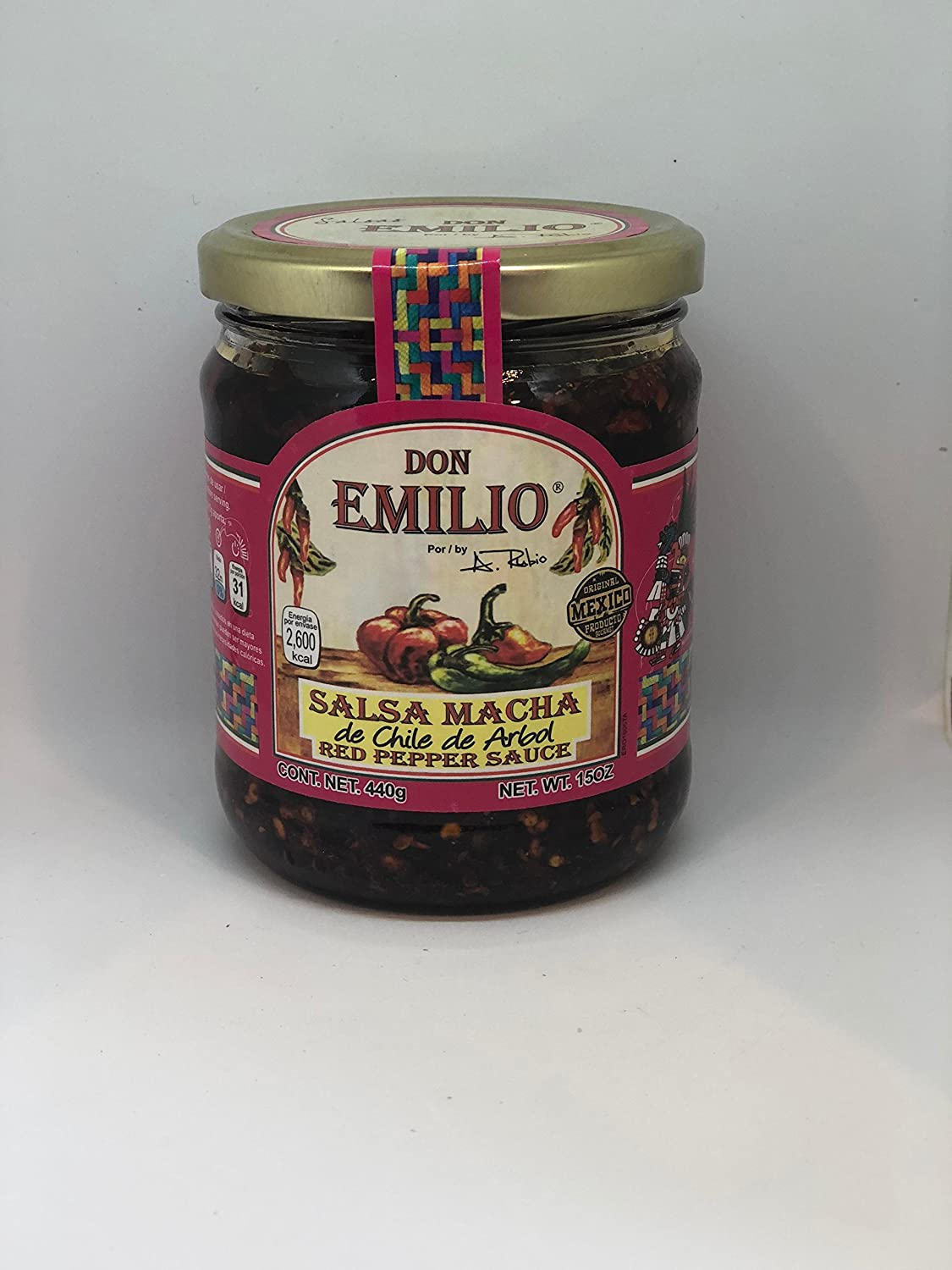 Amazon.com : Salsas Machas Don Emilio 15 oz Chile de árbol made in Mexico : Grocery & Gourmet Food