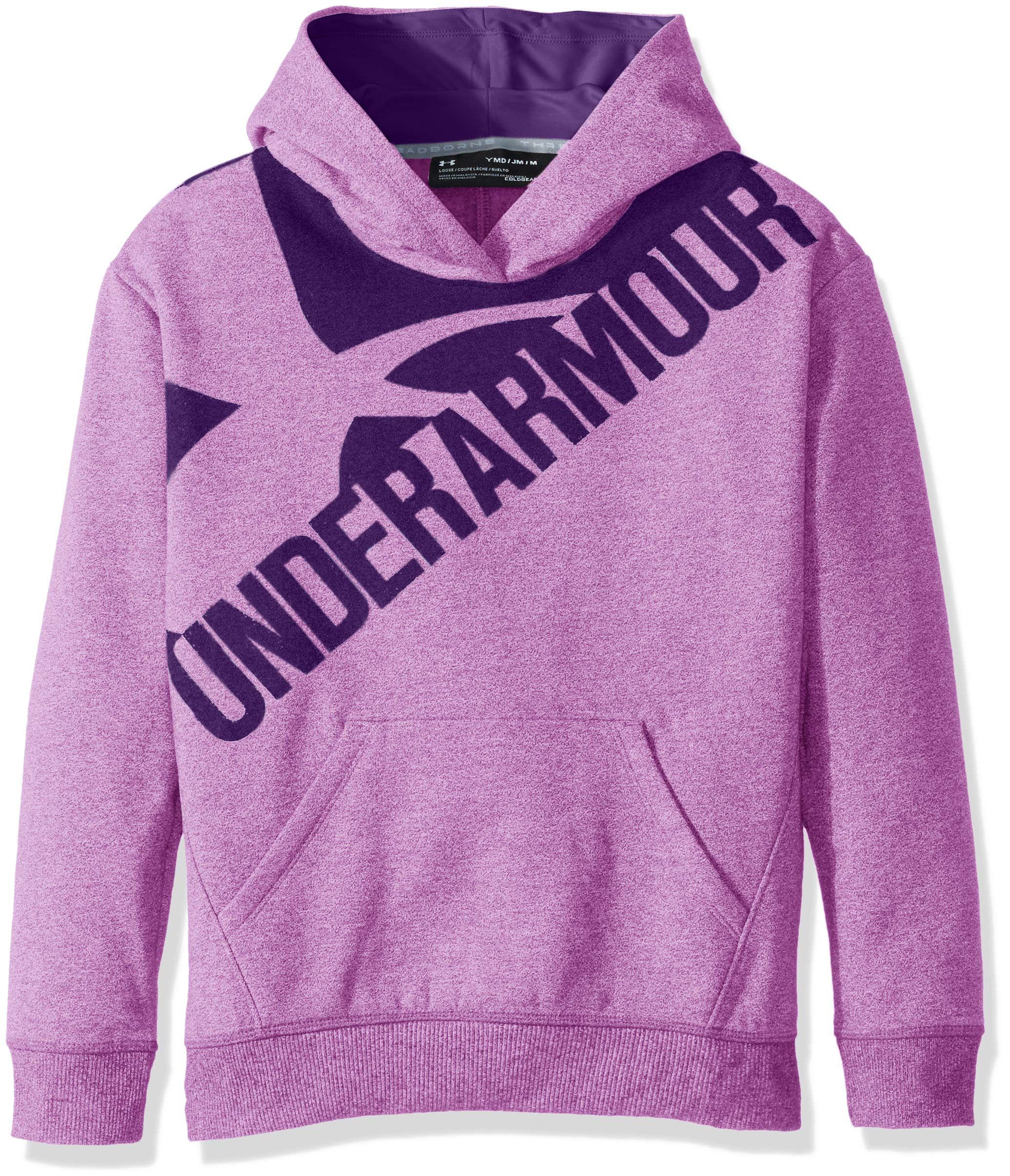 Under Armour Girls Threadborne Novelty Fleece Hoodie,Purple Rave /Indulge, Youth X-Small