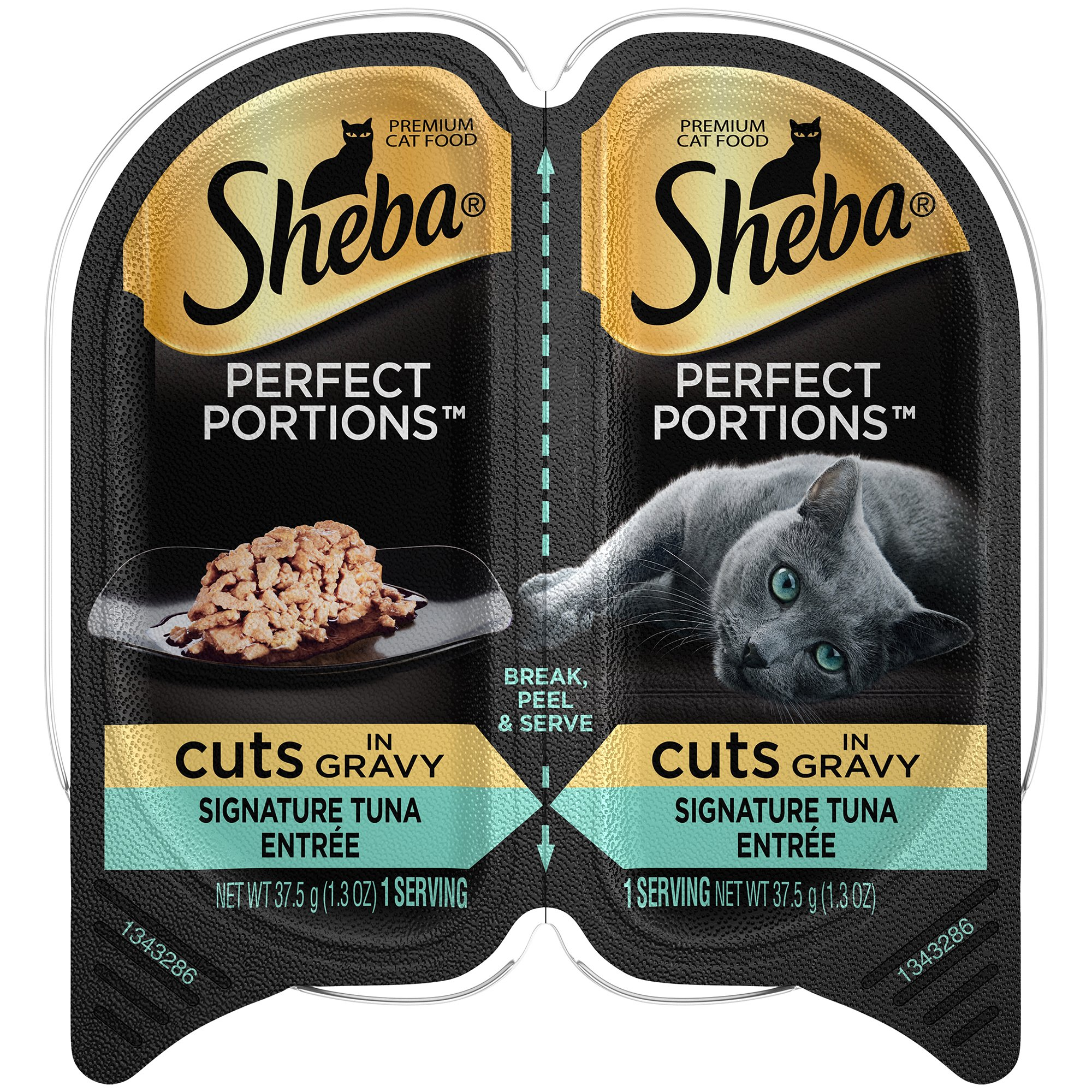 Sheba Perfect Portions Wet Cat Food Cuts In Gravy Signature Tuna Entrée, (24) 2.6 Oz. Twin-Pack Trays by Sheba Wet Food