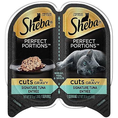 Sheba porciones Cortes en Gravy húmedo Cat Food (24 Paquetes de 2 Unidades)