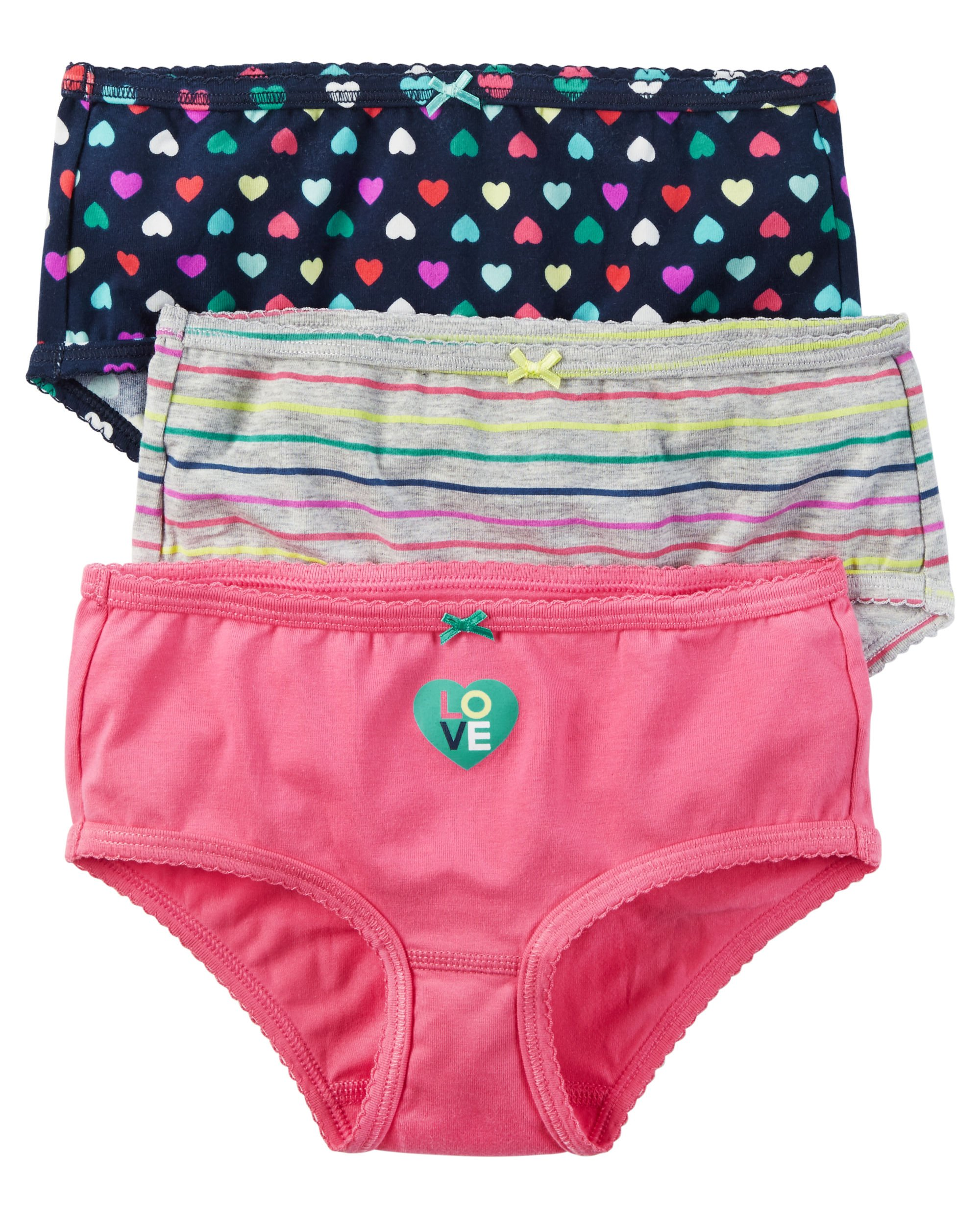 Carters Girls Toddler 3 Pack Girls Underwear (6-6x, Love and Hearts) by Carter's (Image #1)
