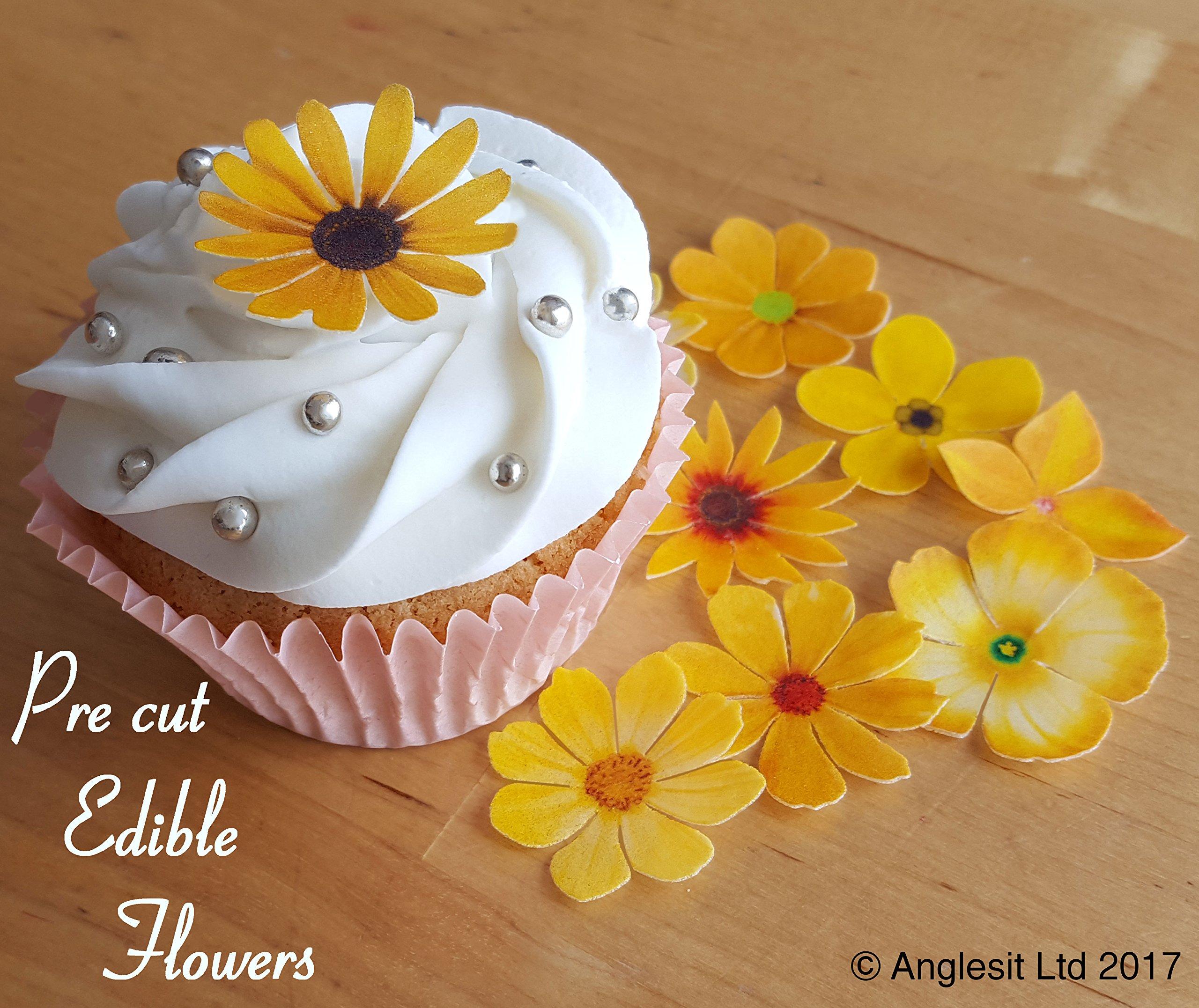 Edible Flower Cake Decorations Amazon