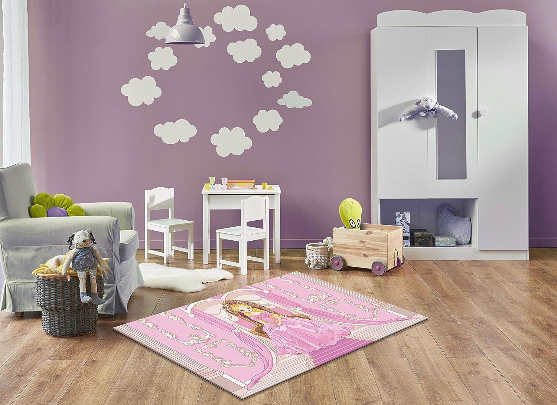 Keymura Moderner Teppich mit schönem Druck/Design Prinzessin | Größe: 120x170 cm - Qualität, Design, Modern zu einem Hammerpreis! Für Kinderzimmer, Wohnzimmer, Flur, Schlafzimmer geeignet!