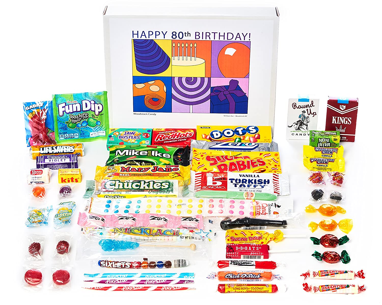 Amazoncom Woodstock Candy 80th Birthday Gift For 80 Year Old