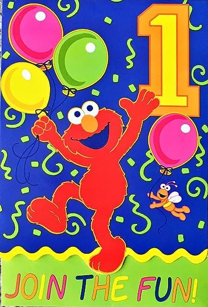 Amazon Elmo Join The Fun 1st Birthday Invitations Toys Games