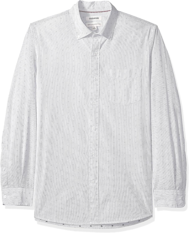Goodthreads Mens Slim-Fit Long-Sleeve Dobby Shirt Brand