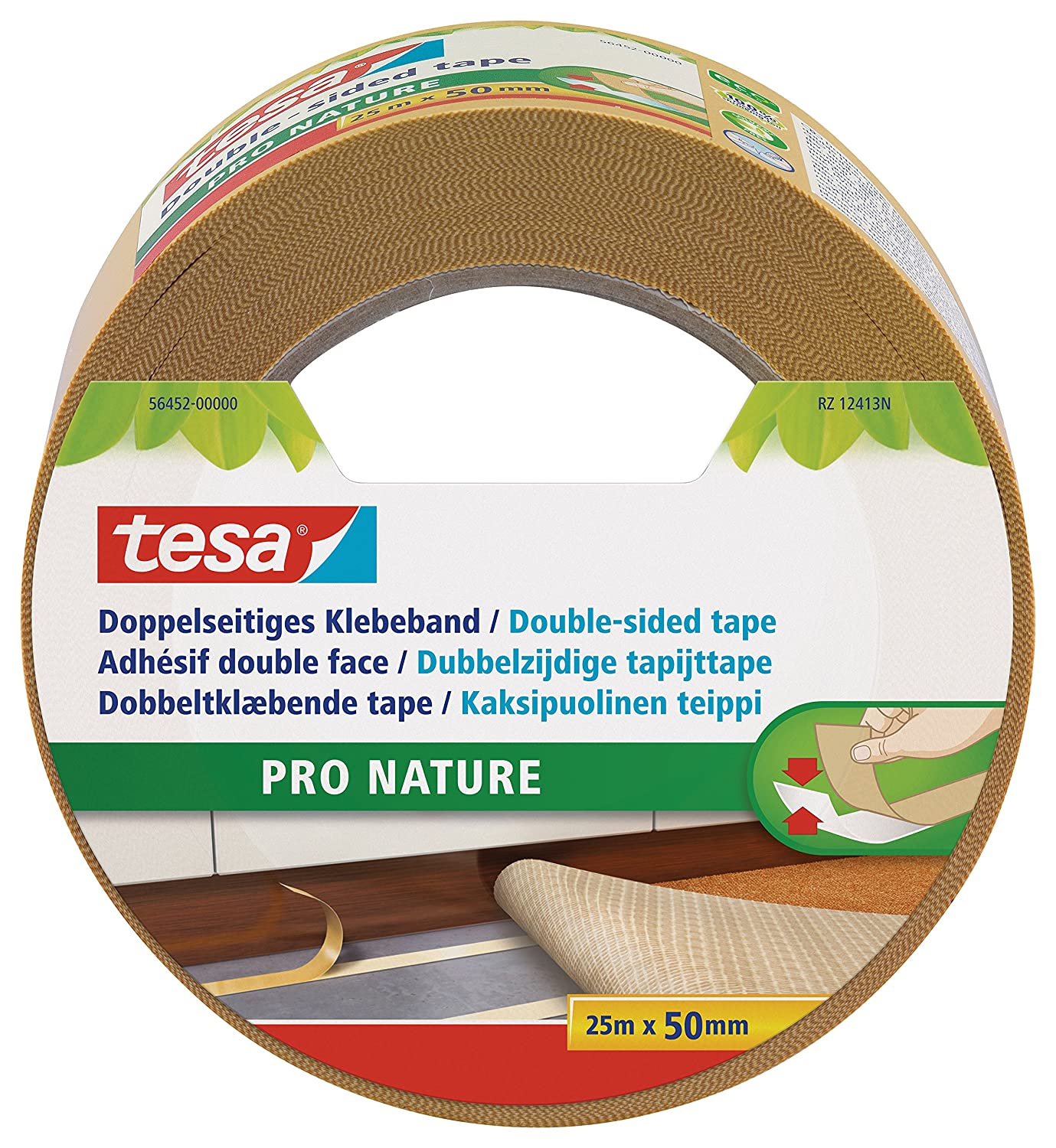 tesa Carpet Tape Double-Sided/Ecological / 10 M x 50 MM 56451-00000-00