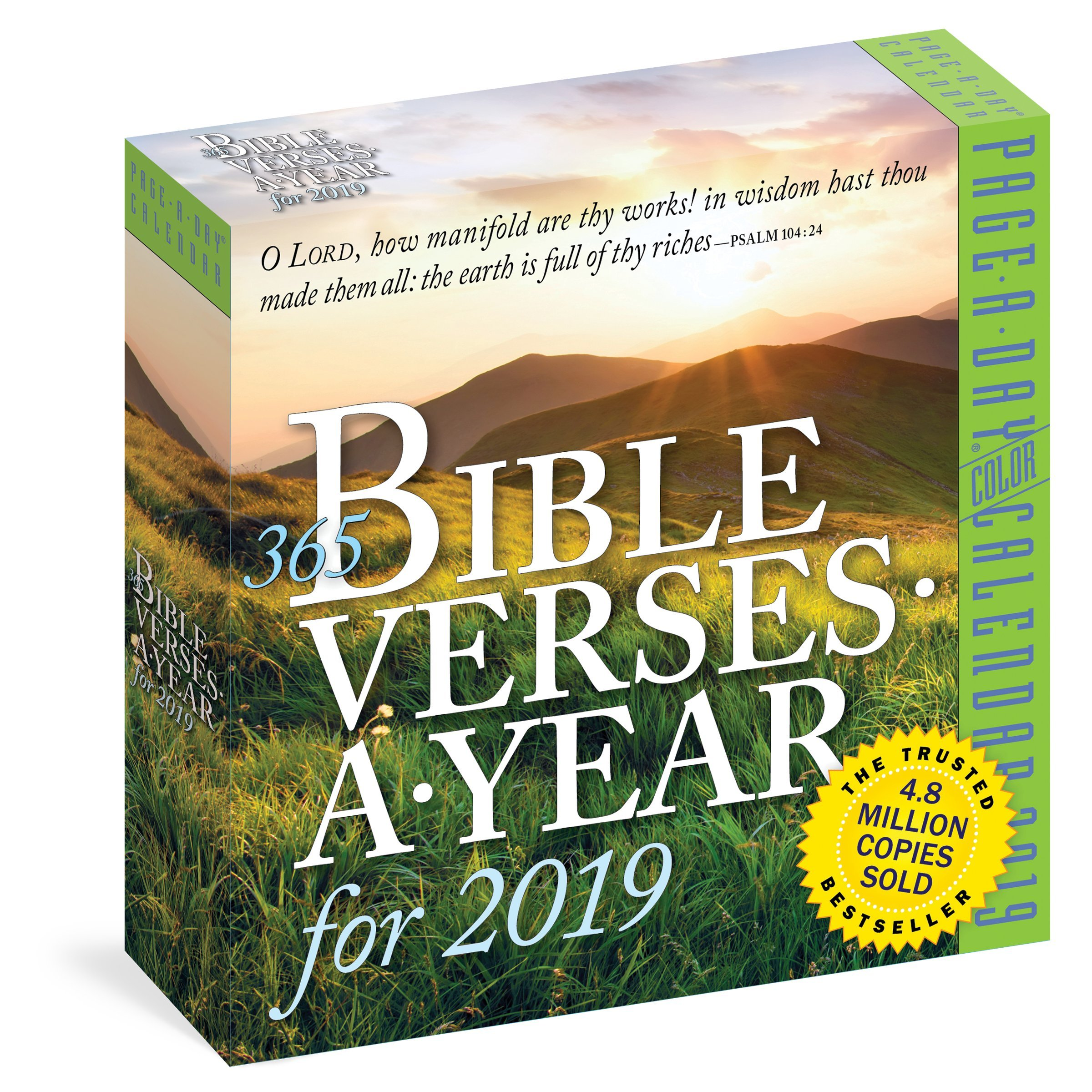 365 Bible Verses A Year 2019 Calendar Workman 9781523503421