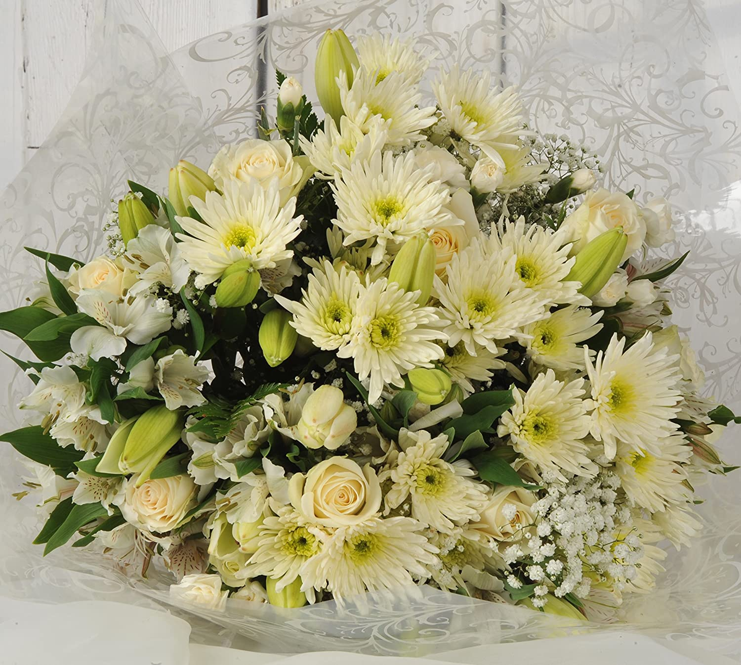 Sympathy Flowers Delivered Next Day Beautiful White Luxury Fresh