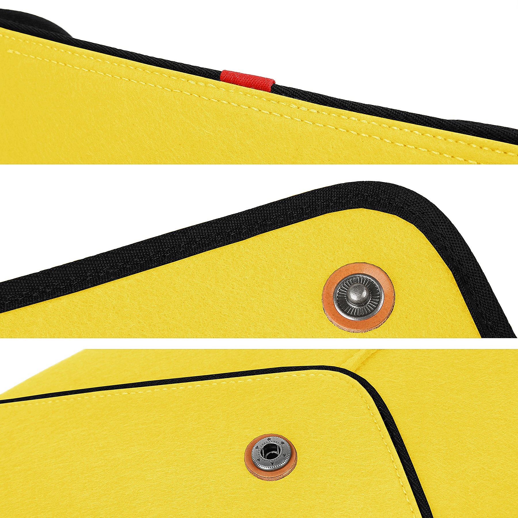 TOPHOME Laptop and Tablet Bag Business Office Bag Laptop Case Sleeve Bag 13-13.3 Inch for MacBook/Ultrabook/Tablet/HP/Acer/Asus/ Dell/Lenovo/Thinkpad Wool Felt Yellow by TOPHOME (Image #5)