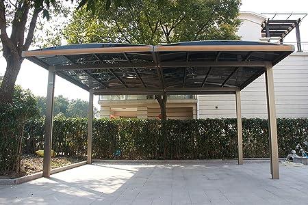 20 x 18 Premium policarbonato de aluminio garaje marquesina de ...
