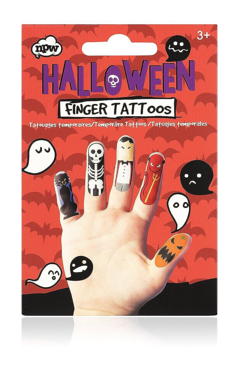 NPW- Tatuaje del dedo de Halloween (NP25019): Amazon.es: Juguetes ...