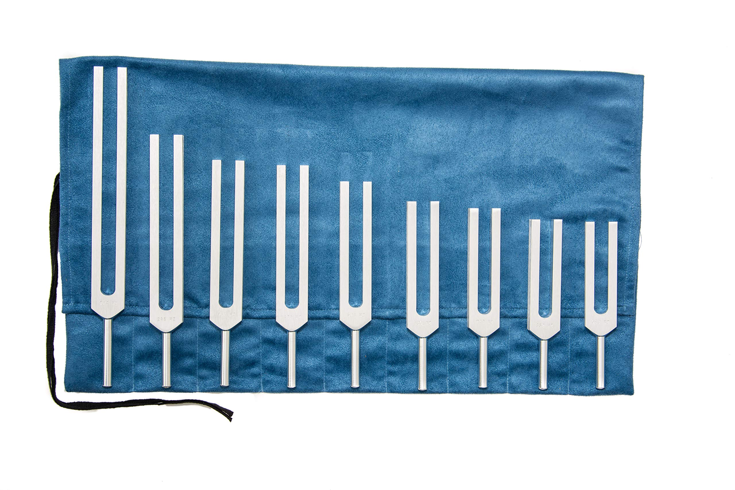 Solfeggio Tuning Fork Set with Bag by Omnivos