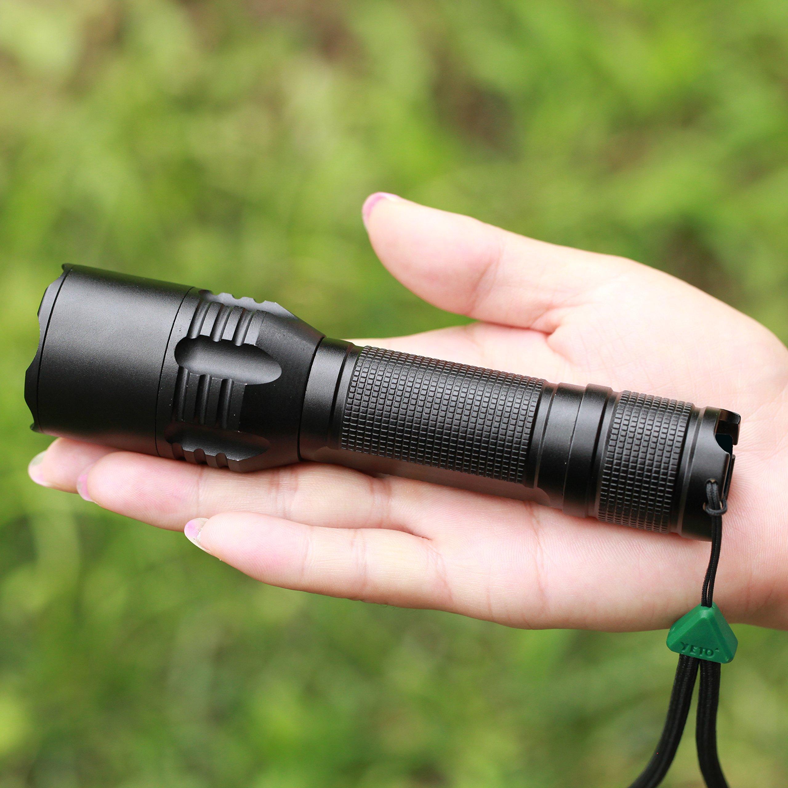 YETO Three-modes CREE XML-2 8W LED Self-defense Bezel Handheld Flashlight Torch